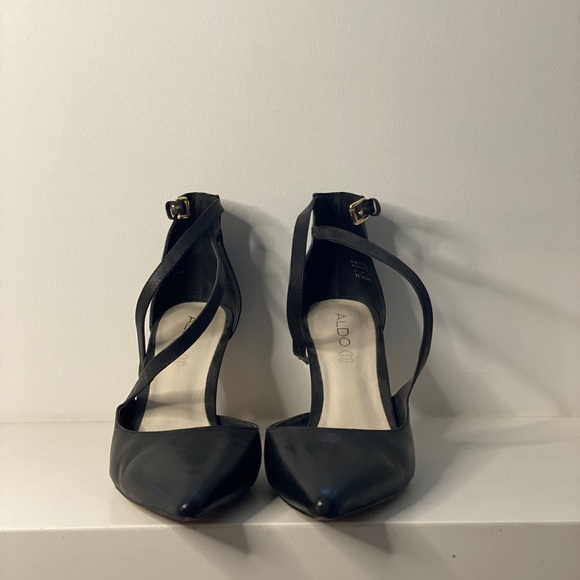 Aldo Black Closed Toe Heels